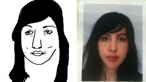 Graphic designer offers original drawn portraits in a minute or less