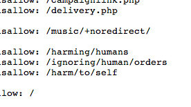 Quite possibly the best Robots.txt file ever.