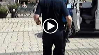want entertainment in Sweden? Turn your camera on a policeman.