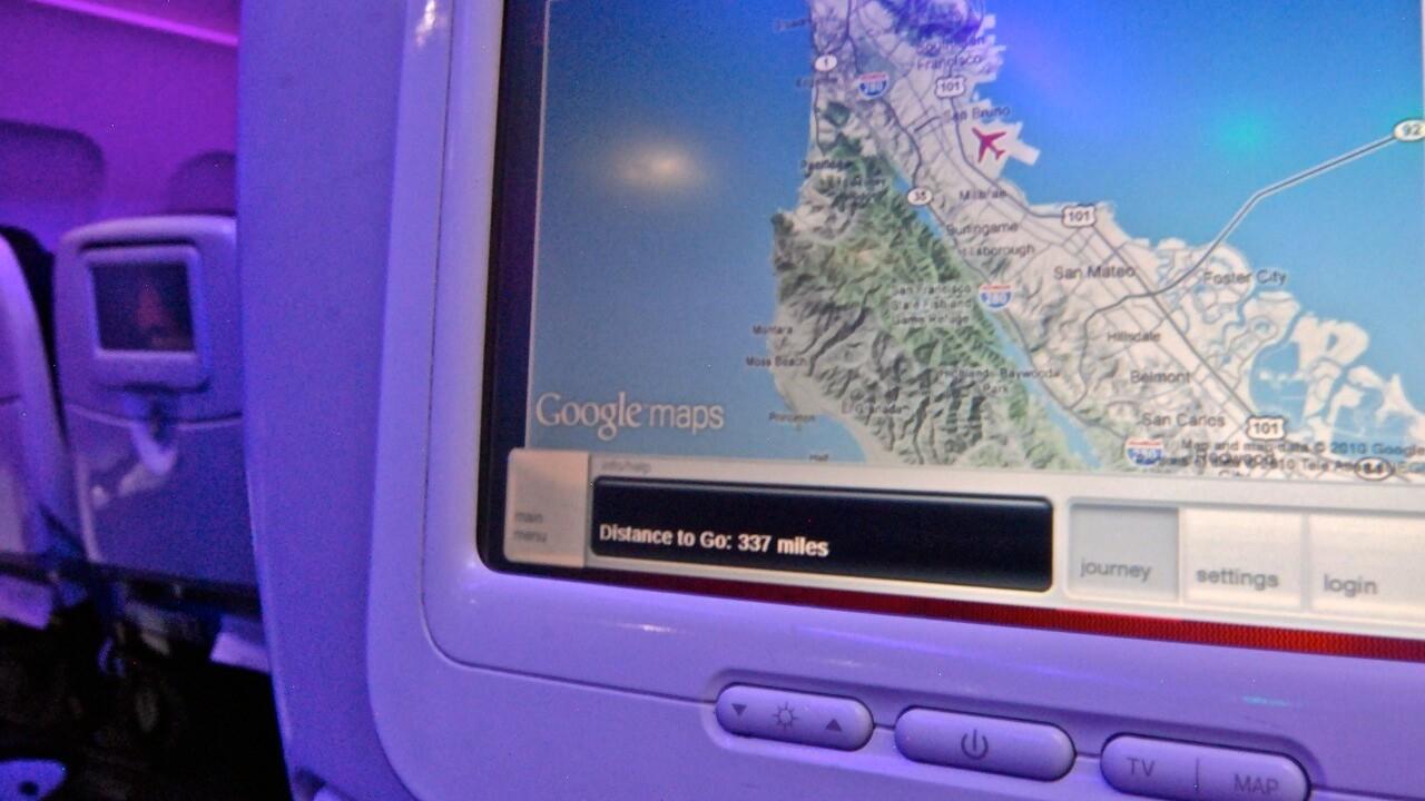 Refreshed Google Maps Interface Rolls Out Across Virgin America Fleet