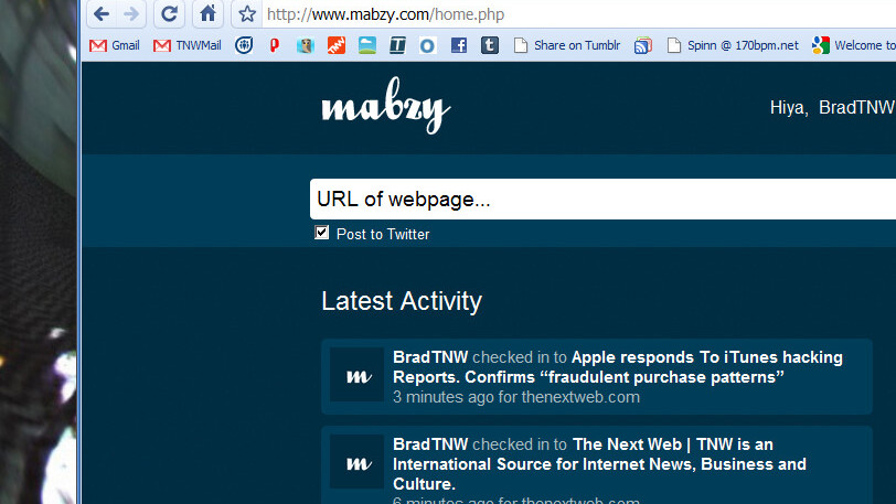 Mabzy takes a Foursquare approach to Internet browsing.