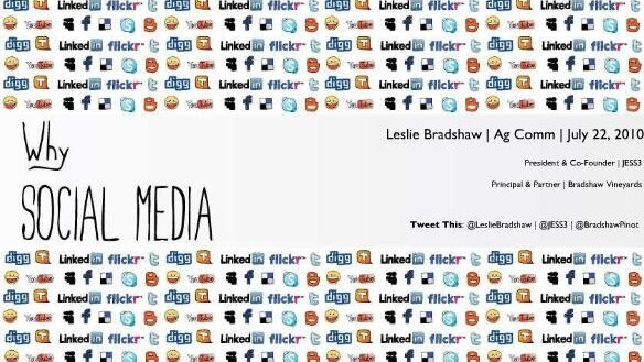 Why Social Media? A Slideshare presentation.