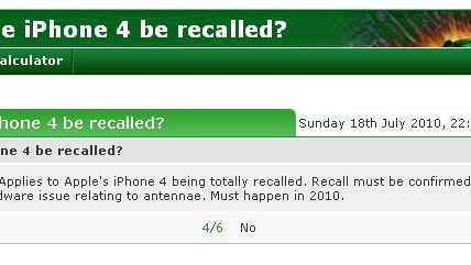 """Odds of an iPhone 4 recall? Bookmaker says """"Very likely"""""""