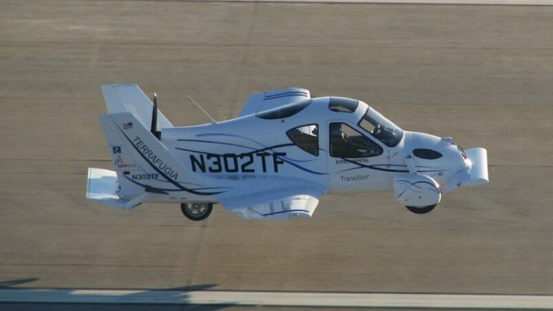 Crazy guy.  Flying car.  Video.  Nuff said.