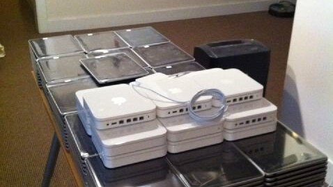 166 iPads on a table, 166 iPads, take one down, pass it around…