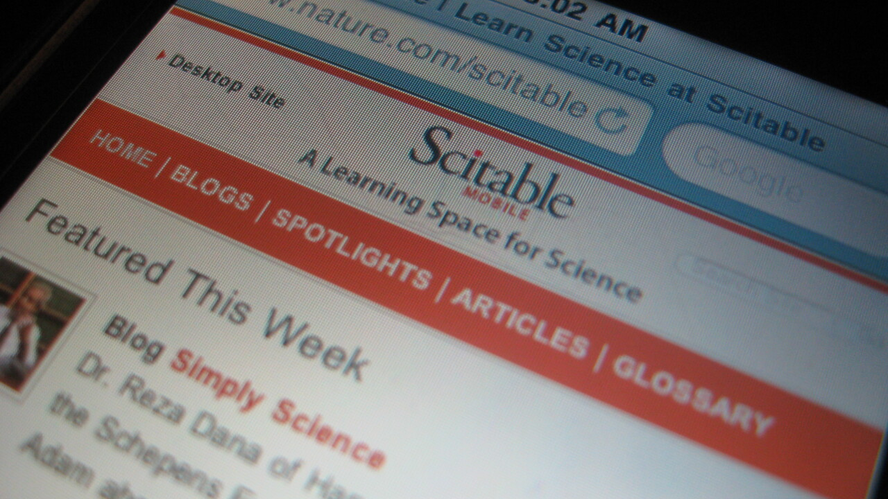Scitable goes mobile. Social science research comes to your phone.