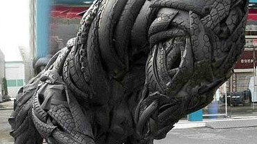 wow. Used tire art. [pic]