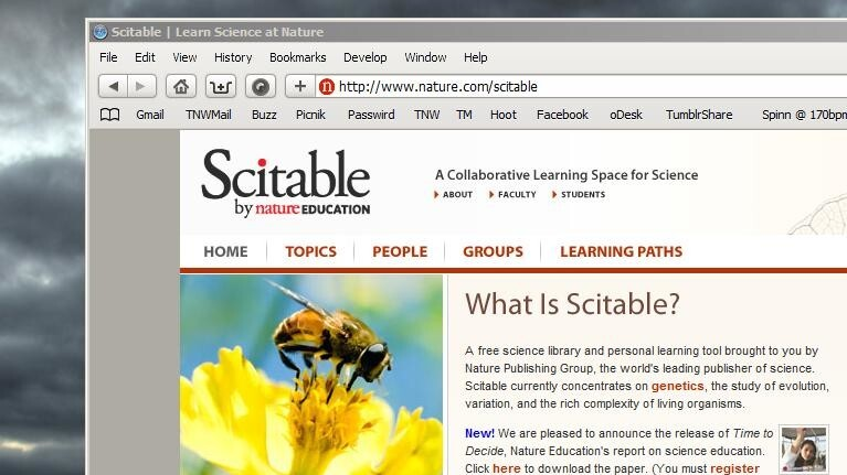 Scitable: The social research network for science geeks.