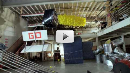 Love Rube Goldberg Installations? Then you'll love this Music Video!