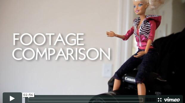 Comparison: Canon 7D – Barbie Video Girl