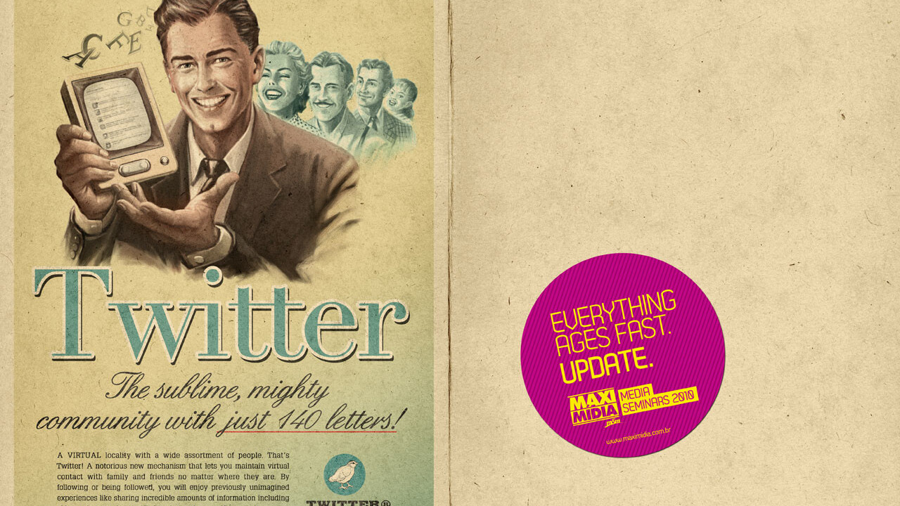 Twitter now has it's own vintage ad as well