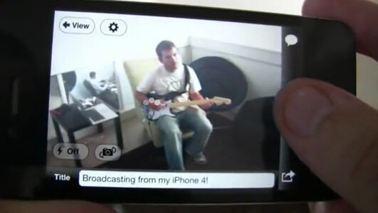 Justin.tv updates for iOS4; now has live video recording for iPhone 4 and 3GS