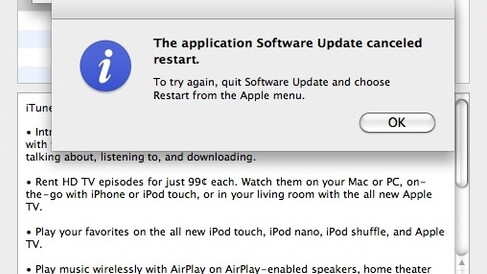 Ah, we recognize this one: Mac OSX dilemma