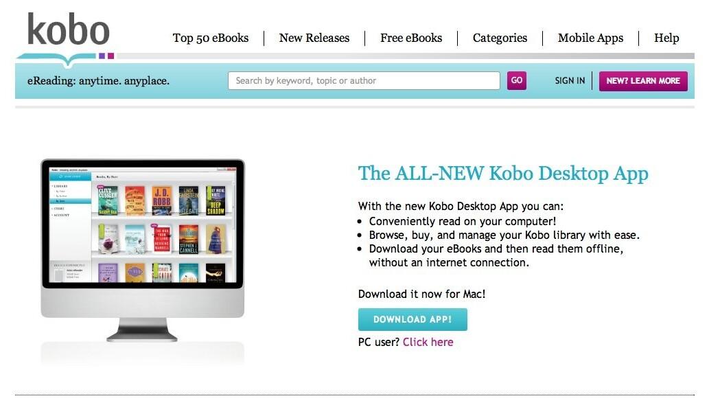 Kobo Hits the Desktop With New App
