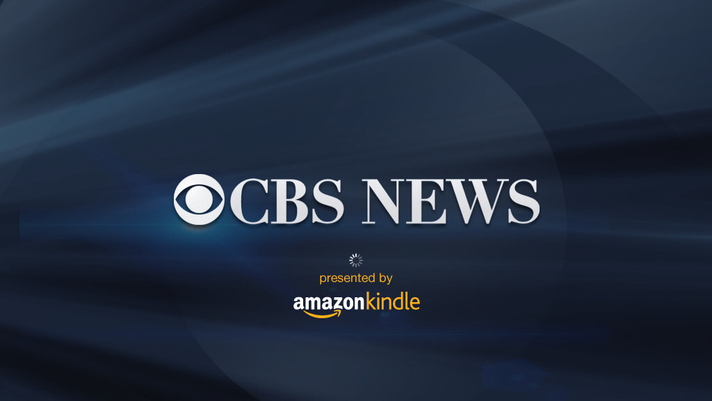 "New CBS News iPad app ""presented by Amazon Kindle"""