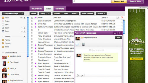 New Yahoo! Mail to let you update Facebook and Twitter from your inbox