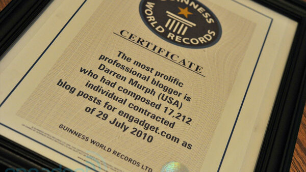 Blogger earns Guinness World Record for most posts ever
