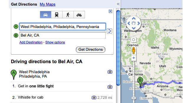 Google Maps: Whistle for a Cab..