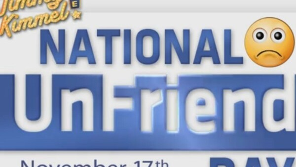 'National UnFriend Day' brought to you by Jimmy Kimmel and William Shatner