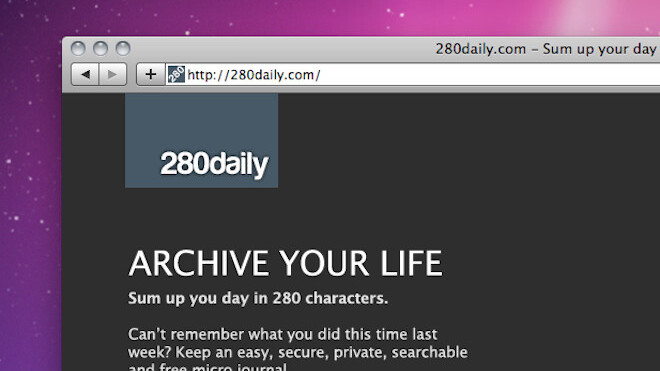 280daily: 280 characters to sum up your day