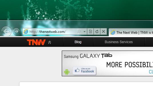 Fresh screenshots leak from the Internet Explorer 9 RC