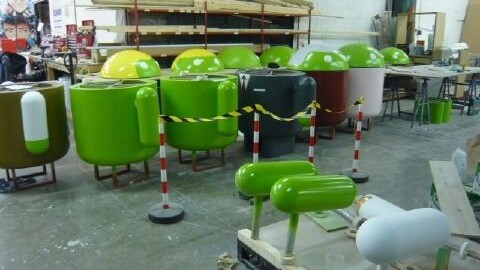 A behind the scenes look at Google's MWC Android stand