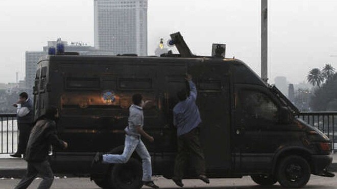 The diplomatic car that ran over 20 people in Cairo