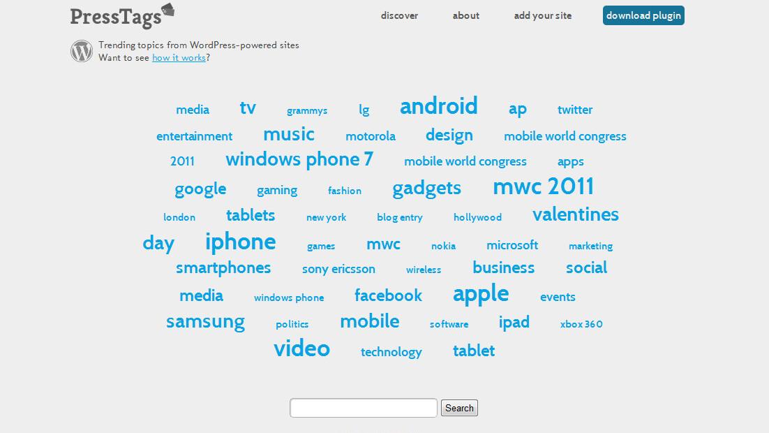 Press Tags: An ingenious plugin to discover trending topics among WordPress blogs