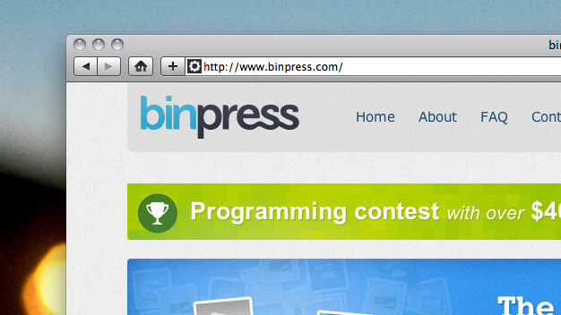 binpress: A marketplace for code and a $40k prize for the best of it