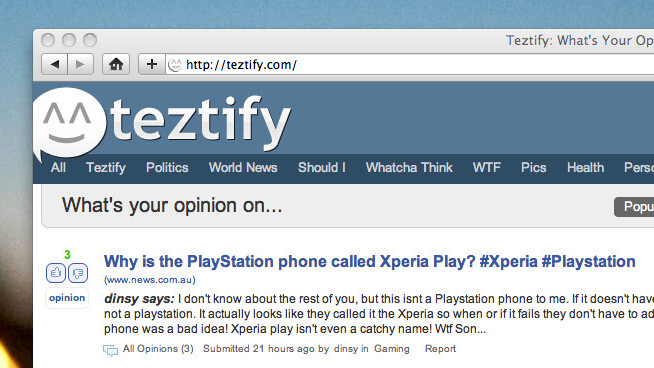 Teztify: It's like Quora, but for discussions.