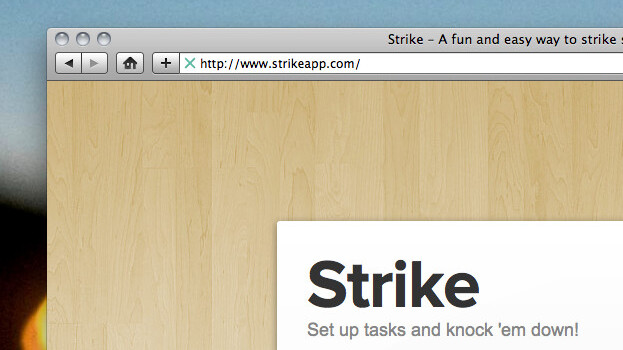 Strike: A super-simple to-do list, living in your browser