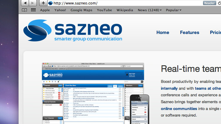 Sazneo unveils real-time group collaboration for the iPhone