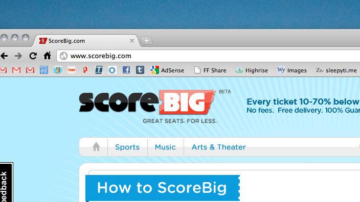 ScoreBig: Save big cash on unsold live event tickets [Invites]