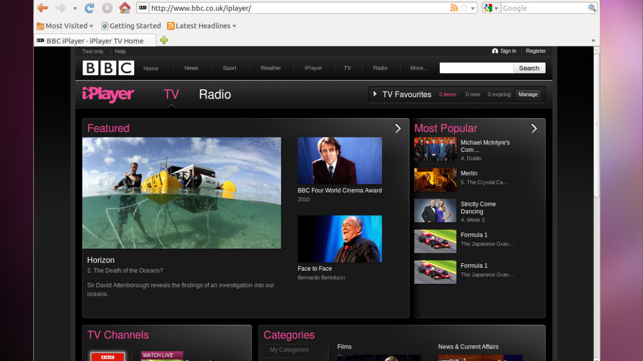 BBC iPlayer now features programmes from other on demand services