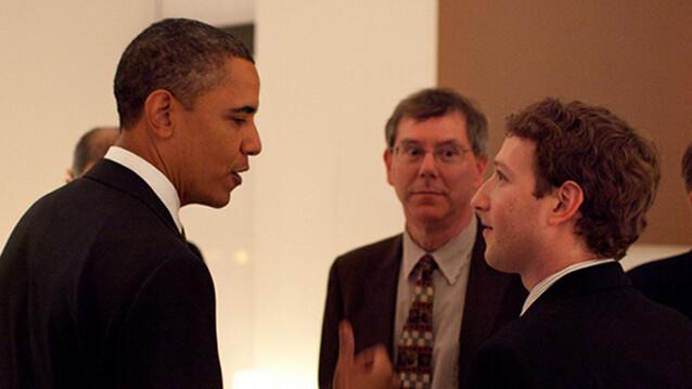 When Obama met Zuckerberg, caught on camera
