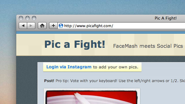 Instagram meets FaceMash in Pic A Fight