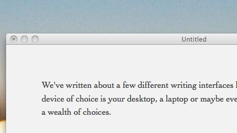 Byword: A beautifully simple Mac app, for writing.
