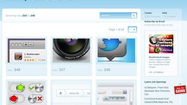 365psd gives away free Photoshop files every day