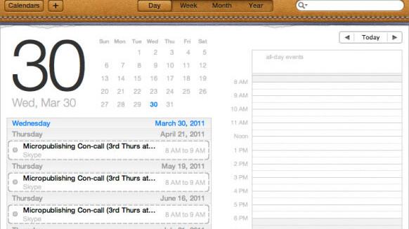New OS X Lion developer preview reveals iCal overhaul