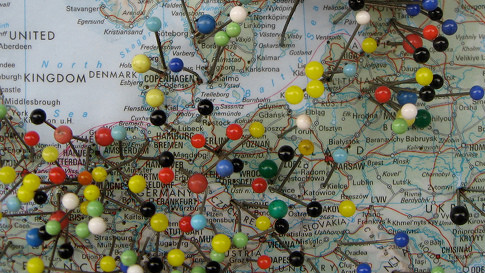 Explore Facebook Places checkins on a map with MeMap
