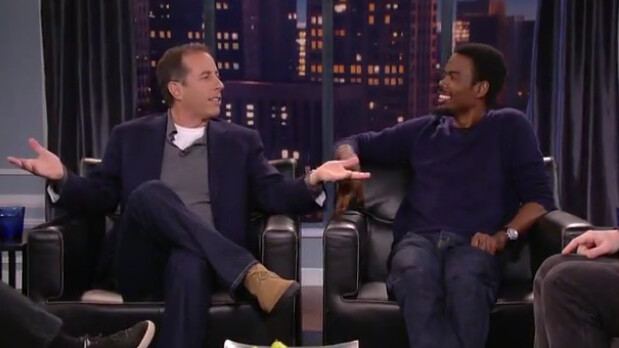 Once in a lifetime? Ricky Gervais, Louis CK, Jerry Seinfeld & Chris Rock talk comedy. [Video]