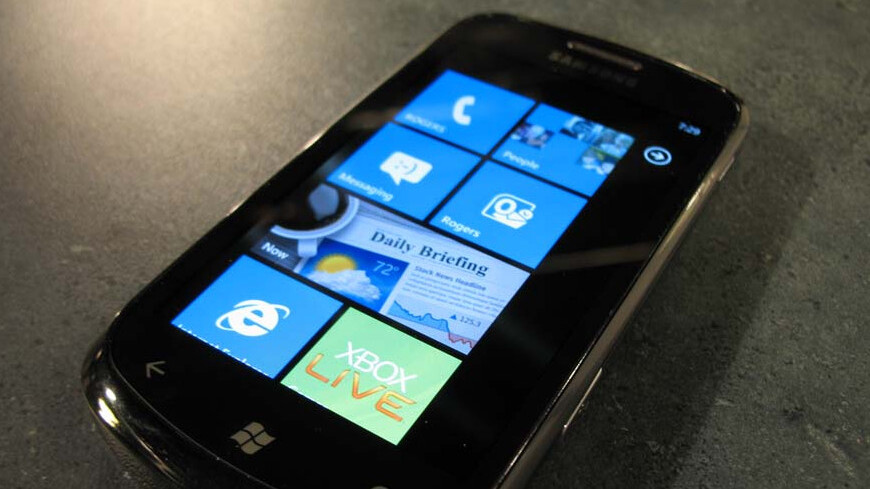 Security update for WP7 handsets rolling out now