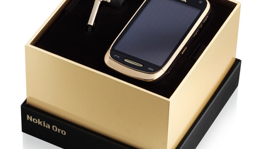 Nokia Oro: A gold-plated, sapphire crystal and leather-lined Symbian smartphone