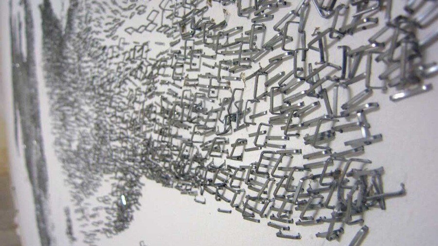 100,000 staples arranged over 40 hours and other awesome staple art.