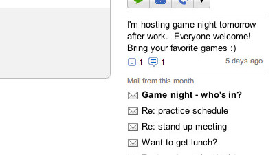 Google announces Gmail people widget