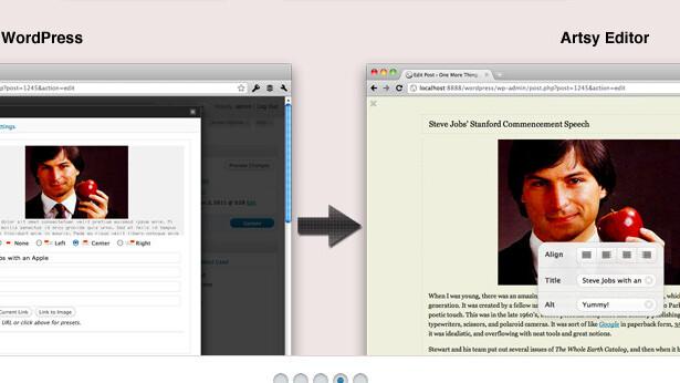 Artsy Editor turns WordPress into a minimalist distraction-free writing web app