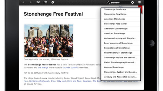 All of Wikipedia brings ALL of Wikipedia to your iPhone & iPad for offline reading.