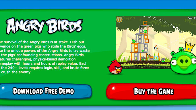 Angry Birds now available for Windows PCs, no browser needed