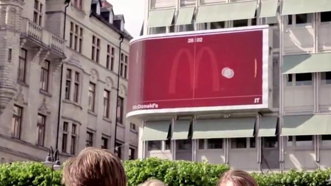 McDonald's Brilliant Interactive Billboard Campaign