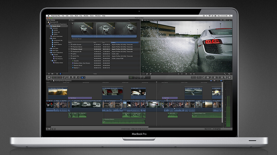 Apple releases Final Cut Pro X on the Mac App Store